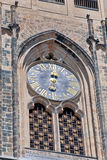 Czech Republic, Prague: The clock on the St. Vitus Cathedral. Stock Photos