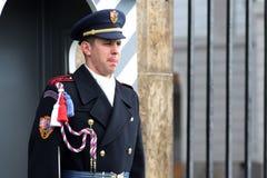 Czech Republic, Prague: The guard on duty Stock Photo