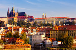 Czech republic, Prague. Look on Gradchana and the Vltava River Royalty Free Stock Images