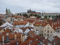 Czech Republic, Prague, Mala Starana. Czech Republic, Prague, view of the Prague Castle and Mala Strana stock photo