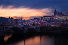 Czech Republic, Prague,  Mala Strana during sunset Royalty Free Stock Photos