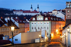 Czech Republic, Prague,  Mala Strana during sunset Stock Image