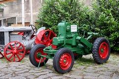 Czech Republic. Prague. National Technical Museum. Tractor. June 11, 2016. Czech Republic. Prague. National Technical Museum. Green tractor. June 11, 2016 Royalty Free Stock Image