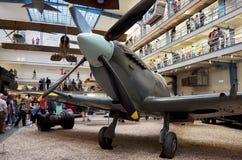 Czech Republic. Prague. National Technical Museum. Vintage aircraft. June 11, 2016. Czech Republic. Prague. National Technical Museum. Grey vintage aircraft Stock Images