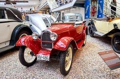 Czech Republic. Prague. National Technical Museum. Vintage car. June 11, 2016. Czech Republic. Prague. National Technical Museum. Vintage red car. June 11, 2016 stock image