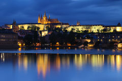 Czech Republic: Prague by night Royalty Free Stock Photos