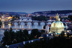 Czech Republic: Prague by night Stock Photo