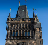 CZECH REPUBLIC, PRAGUE - OCTOBER 02, 2017: Appearance of a wonderful European city. Ostop tower with spiers Stock Image