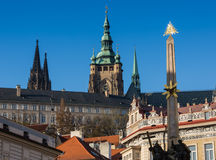 CZECH REPUBLIC, PRAGUE - OCTOBER 02, 2017: Appearance of a wonderful European city. Ostop tower with spiers.  Stock Photography