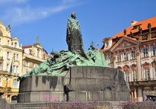 Czech Republic, Prague, Old Town Square, monument Stock Photo