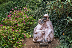 Czech Republic. Prague. Prague Zoo. Sculpture monkeys. June 12, 2016 Stock Photography