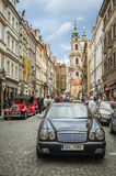 CZECH REPUBLIC, PRAGUE, SEPTEMBER 10: One of the authentic stree Stock Photos