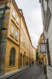 CZECH REPUBLIC, PRAGUE, SEPTEMBER 10: One of the narrow authenti Stock Photo