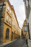 CZECH REPUBLIC, PRAGUE, SEPTEMBER 10: One of the narrow authenti Stock Photo