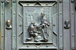 Czech Republic, Prague: St Vitus. Czech Republic, Prague: main door of St Vitus Cathedral stock photos