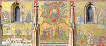 Czech Republic, Prague: St Vitus cathedral. Czech Republic, Prague: paintings of St Vitus cathedral stock photo