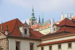 Czech Republic, Prague _ St. Vitus Cathedral from Wallen Stock Images