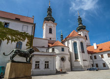 Czech Republic. Prague. Strahov Monastery. Strahov Monastery - Monastery in Prague, Czech Republic architectural monument , located in Hradcany. Patio. Basilica Stock Photography