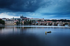 Czech Republic: Prague after sunset Stock Photography