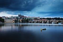 Czech Republic: Prague after sunset Stock Photography