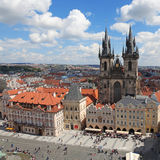 Czech Republic Prague Veiw at Downtown. Chech republic. Downtown view during sunny day Royalty Free Stock Photos