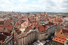 Czech Republic Prague Veiw at Downtown. Chech republic. Downtown view during sunny day Royalty Free Stock Images