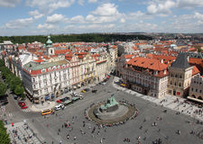 Czech Republic Prague Veiw at Downtown. Chech republic. Downtown view during sunny day Stock Photography