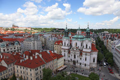 Czech Republic Prague Veiw at Downtown. Chech republic. Downtown view during sunny day Stock Image