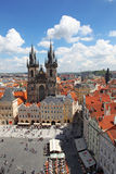 Czech Republic Prague Veiw at Downtown. Chech republic. Downtown view during sunny day Royalty Free Stock Photography
