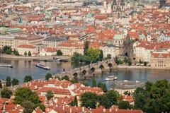 Czech Republic, Prague, the view from the height of bird flight Stock Images