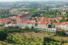 Czech Republic, Prague, the view from the height of bird flight Royalty Free Stock Image