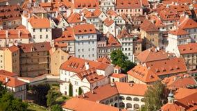 Czech Republic, Prague, the view from the height of bird flight Stock Photo