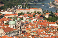 Czech Republic, Prague, the view from the height of bird flight Royalty Free Stock Images