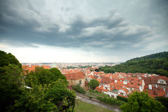 Czech Republic, Prague, the view from the height of bird flight Royalty Free Stock Photos