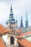 Czech Republic, Prague _ View of St. Vitus Cathedral from Wallen Royalty Free Stock Photography
