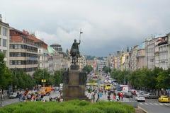 Czech Republic, Prague. View of Vatslavskaya Square Royalty Free Stock Images