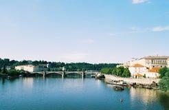 Czech republic, praha. Fine day in Praha ,Czech republic ,bridge Stock Photography