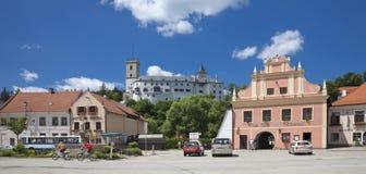 CZECH REPUBLIC - ROZMBERK CITY, The Main Square Stock Photos