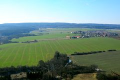 Czech Republic rural landscape. On spring day Royalty Free Stock Photo