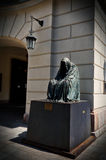 Czech Republic. Sculpture Anna Chrome  `il commendatore`, spirit of the opera Mozart `Don Giovanni` in Prague. 18 June 201 Royalty Free Stock Images