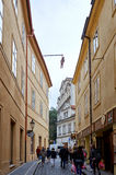 Czech Republic. Sculpture of David Black hanging Seven Foot Sigmund Freud. 17 June 2016. Royalty Free Stock Image
