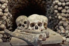 Czech Republic. Skulls and bones in the ossuary in Kutna Hora. June 14, 2016 Stock Photo