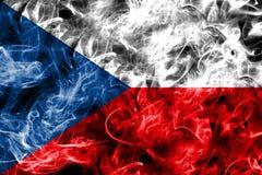 Czech Republic smoke flag isolated on a black background.  Stock Photo