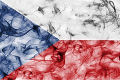 Czech Republic smoke flag isolated on a white background. Czech Republic smoke flag isolated on a white background Royalty Free Stock Photos