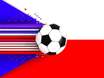 Czech Republic soccer flag Royalty Free Stock Images
