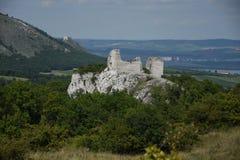 Czech republic, south Moravia, Palava region, castle Sirotci hradek Stock Image