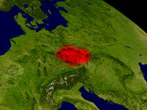 Czech republic from space Stock Image