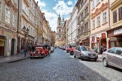 Czech Republic. Street in Prague. June 13, 2016. Czech Republic. Prague. Street in Prague. June 13, 2016 royalty free stock photography