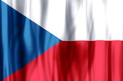 Czech Republic. Stylish waving and closeup flag illustration. Perfect for background or texture purposes stock illustration