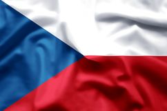 Czech Republic. Stylish waving and closeup flag illustration. Perfect for background or texture purposes vector illustration